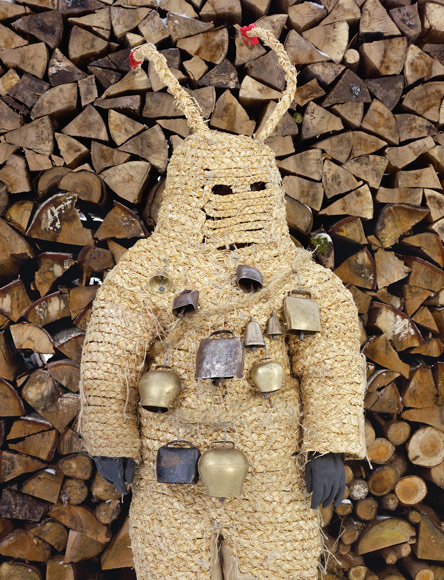 GERMANY On Christmas Eve Pelzmärtle appears in the village of Bad Herrenalb with the Christkind (Baby Jesus) to scold naughty children and rap them with a stick. The straw costume is sewn on to the wearer.
